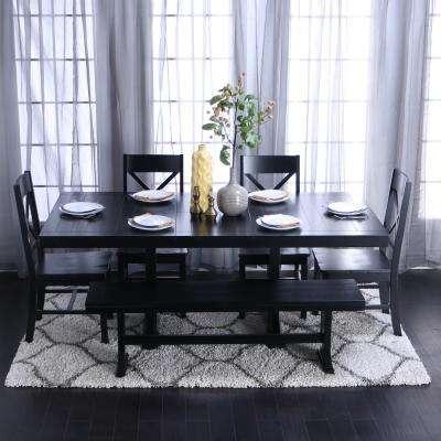 Del Mar Ebony 5 Pc Round Dining Set Room Sets Black With Ideas 6 In Delmar 5 Piece Dining Sets (Image 4 of 25)