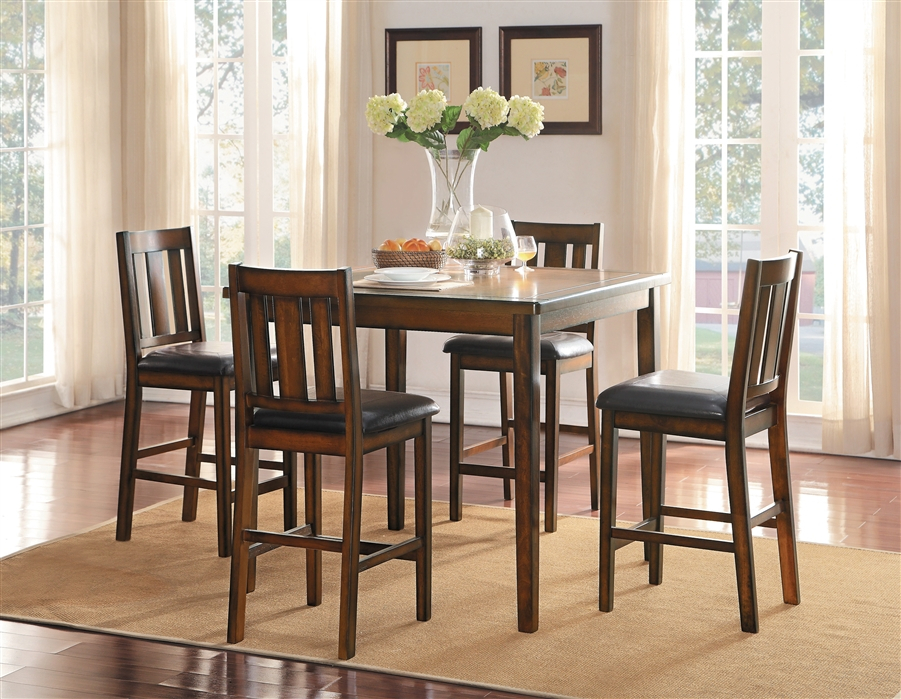 Delmar 5 Piece Counter Height Dining Set In Burnishedhome Elegance –  Hel 5511 36 5Pk Inside Delmar 5 Piece Dining Sets (Image 9 of 25)