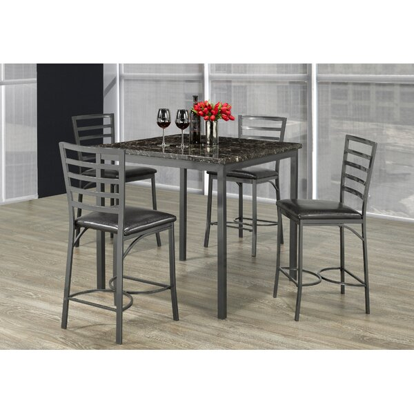 Design Capri 5 Piece Dining Setwooden Importers Wonderful Regarding Lamotte 5 Piece Dining Sets (View 14 of 25)