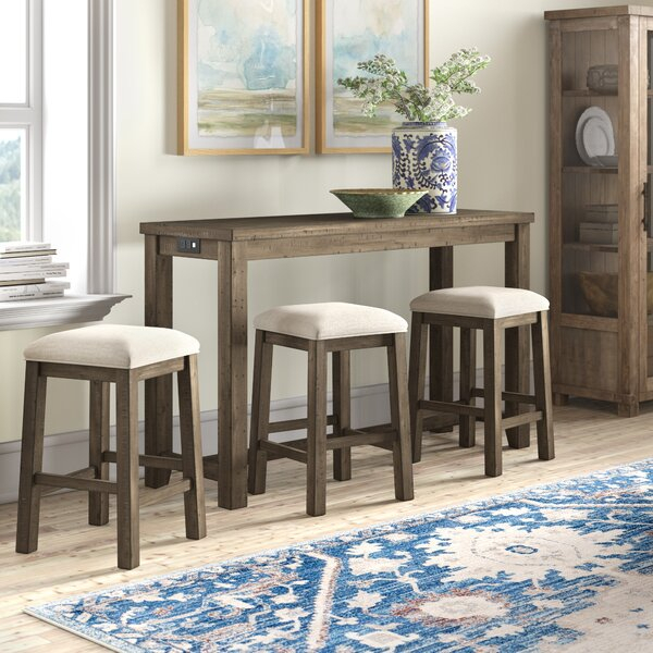Design Kenworthy Multipurpose 4 Piece Pub Table Setthree Posts Throughout Taulbee 5 Piece Dining Sets (View 6 of 25)