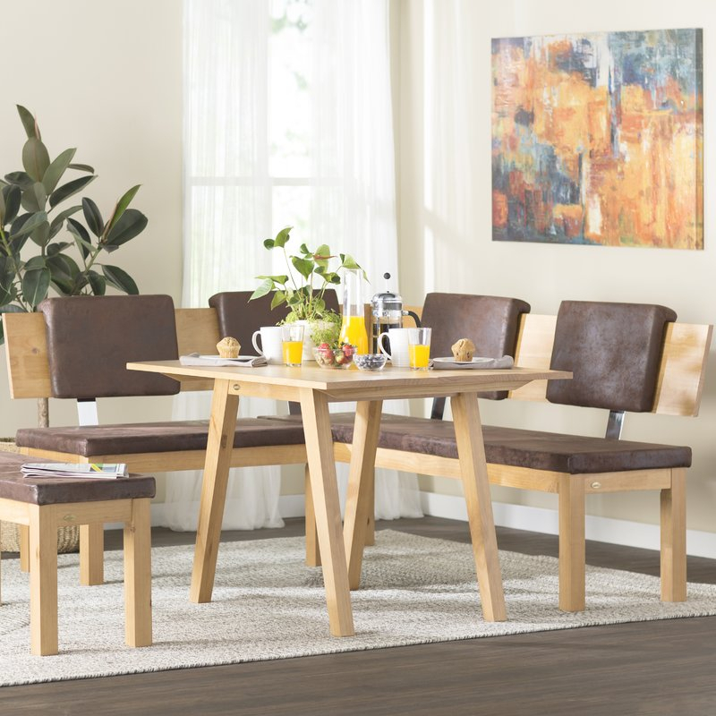 Desouza 3 Piece Breakfast Nook Dining Set Inside 3 Piece Breakfast Nook Dinning Set (View 3 of 25)