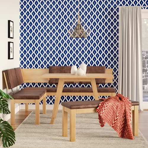 Desouza 3 Piece Breakfast Nook Dining Set Within 3 Piece Breakfast Nook Dinning Set (View 25 of 25)