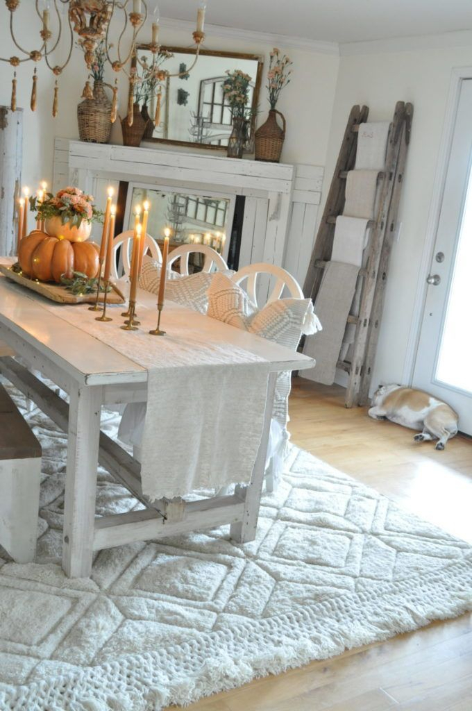 Dining Room Refresh With Loloi - Becky's Farmhouse | Farm House for Linette 5 Piece Dining Table Sets