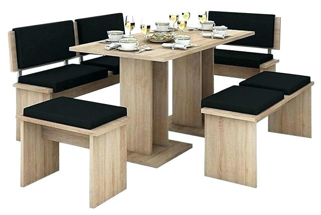 Dining Set Bench Seating Kitchen Nook Table 5 Piece Breakfast With Regard To 5 Piece Breakfast Nook Dining Sets (Image 15 of 25)