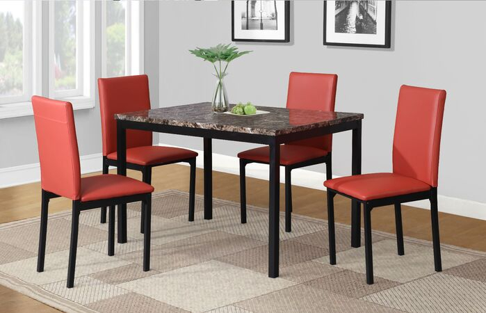 Dining Table Sets Noyes 5 Piece Dining Set February 2019 In Noyes 5 Piece Dining Sets (Image 7 of 25)