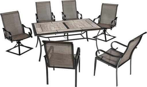 Do It Best® Outdoor Expressions Berkshire 7 Piece Dining Set Within Cargo 5 Piece Dining Sets (Image 19 of 25)