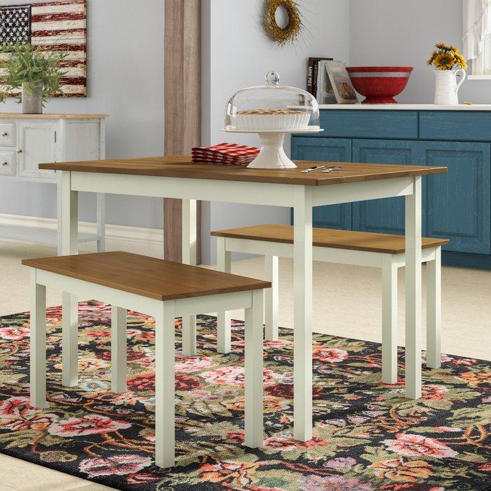 Dwyer 3 Piece Dining Set With Regard To Kaya 3 Piece Dining Sets (Image 6 of 25)