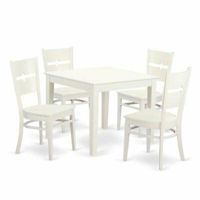 Ebern Designs Lightle 5 Piece Breakfast Nook Dining Set – $ (View 24 of 25)