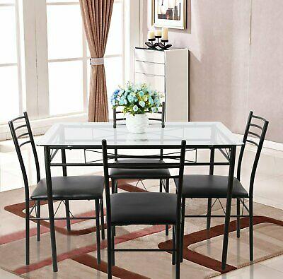 Ebern Designs Lightle 5 Piece Breakfast Nook Dining Set With Lillard 3 Piece Breakfast Nook Dining Sets (View 10 of 25)
