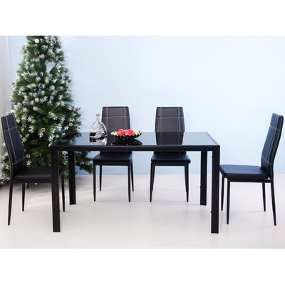 Ebern Designs Maynard 5 Piece Dining Set Intended For Maynard 5 Piece Dining Sets (Image 2 of 25)