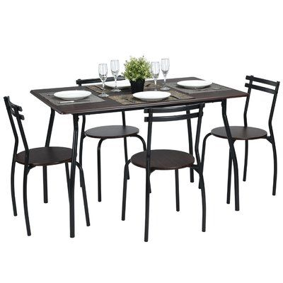 Ebern Designs Tarleton 5 Piece Dining Set In 2019 | Products with Tarleton 5 Piece Dining Sets