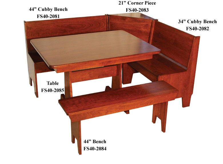 Economy Breakfast Nook Set – Ohio Hardwood & Upholstered Furniture Pertaining To Ligon 3 Piece Breakfast Nook Dining Sets (View 24 of 25)