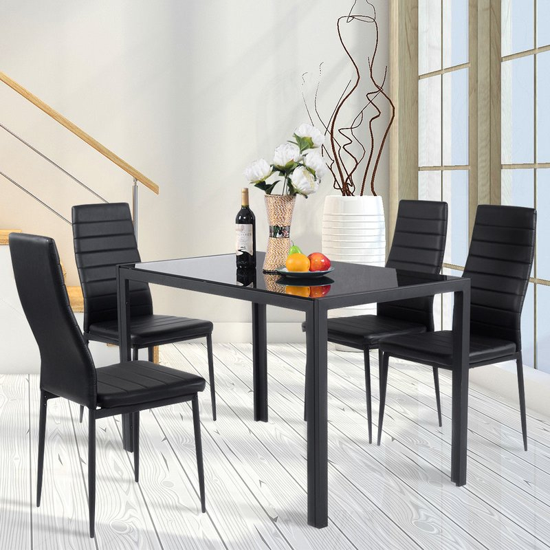 Edgeworth 5 Piece Dining Set Pertaining To Linette 5 Piece Dining Table Sets (Image 7 of 25)
