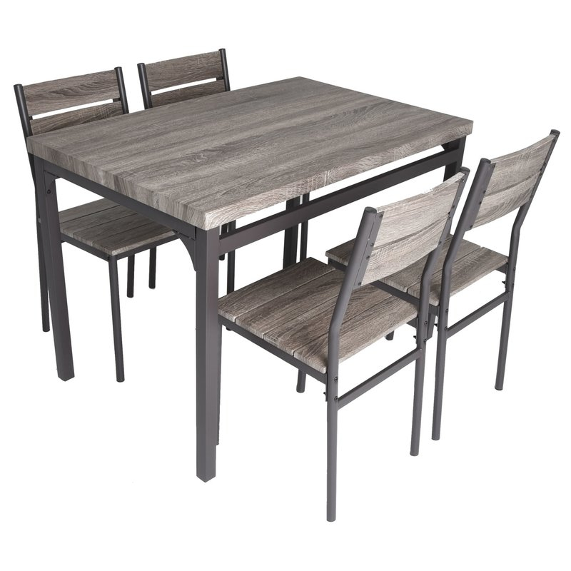 Emmeline 5 Piece Breakfast Nook Dining Set Intended For Mysliwiec 5 Piece Counter Height Breakfast Nook Dining Sets (Photo 12 of 25)