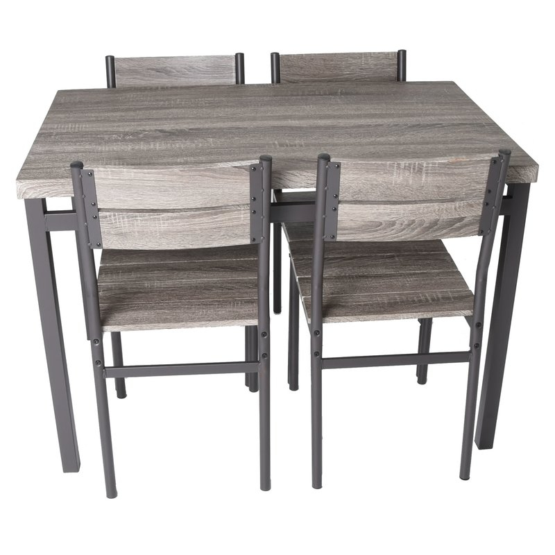 Emmeline 5 Piece Breakfast Nook Dining Set Regarding Emmeline 5 Piece Breakfast Nook Dining Sets (View 3 of 25)