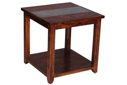 End Tables And Nest Of Tables – Boxy Natural Color Sheesham Wood End Pertaining To Kaya 3 Piece Dining Sets (Photo 18 of 25)