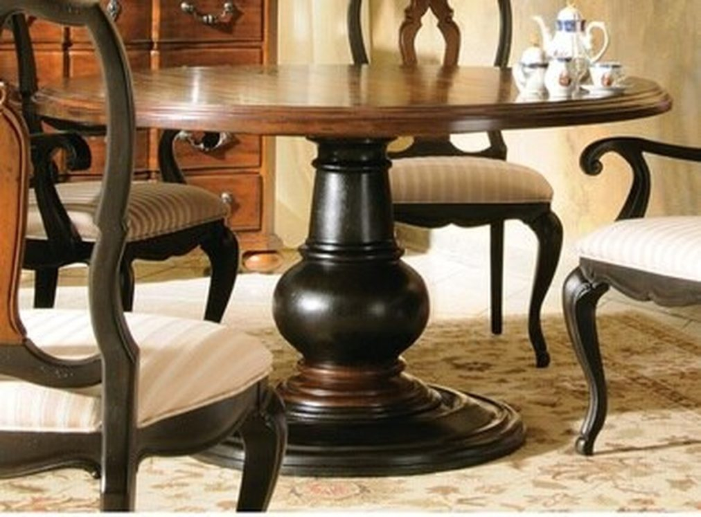 Estates Round Dining Table Inch Kitchen Circle And Chairs Room Sets Throughout Linette 5 Piece Dining Table Sets (Image 8 of 25)