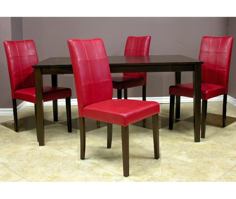Evellen 5 Piece Solid Wood Dining Set Regarding Evellen 5 Piece Solid Wood Dining Sets (Set Of 5) (Photo 1 of 25)