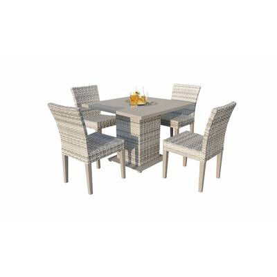 Falmouth Patio Dining Chair With Cushion Intended For Rossi 5 Piece Dining Sets (View 25 of 25)