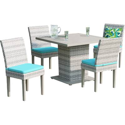 Falmouth Patio Dining Chair With Cushion Pertaining To Rossi 5 Piece Dining Sets (View 21 of 25)