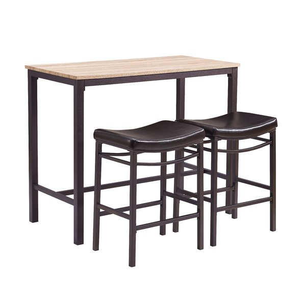 Farmhouse & Rustic Pub Table Sets | Birch Lane For Crownover 3 Piece Bar Table Sets (Image 21 of 25)