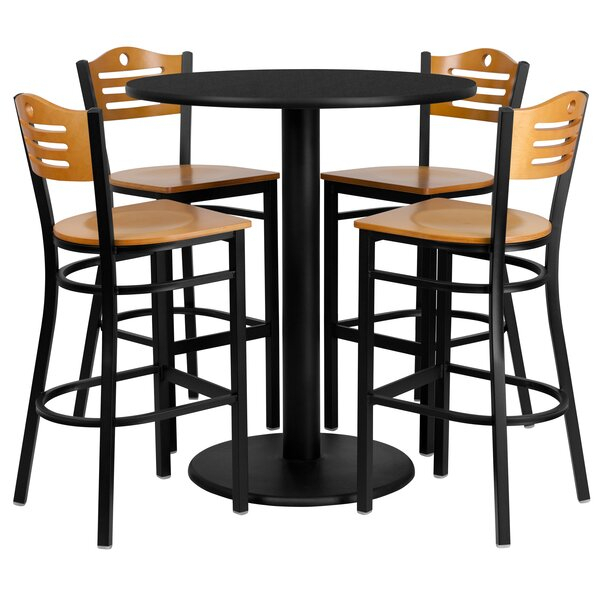 Find Arnab 5 Piece Pub Table Setred Barrel Studio Herry Up In Valladares 3 Piece Pub Table Sets (View 18 of 25)