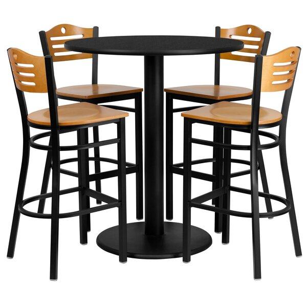 Find Arnab 5 Piece Pub Table Setred Barrel Studio Herry Up In Valladares 3 Piece Pub Table Sets (Image 13 of 25)