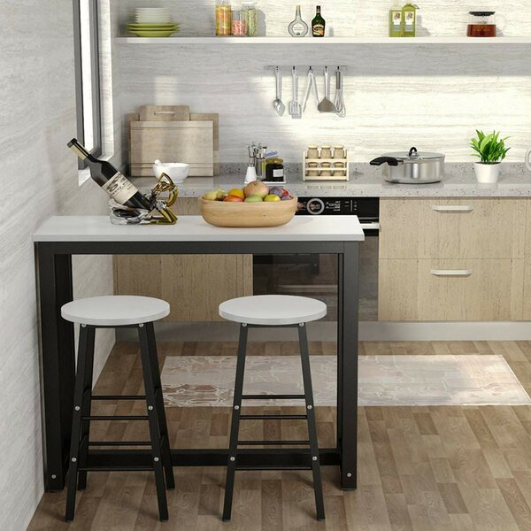 Find Northwoods 3 Piece Dining Setebern Designs 2019 Online With Giles 3 Piece Dining Sets (View 5 of 25)