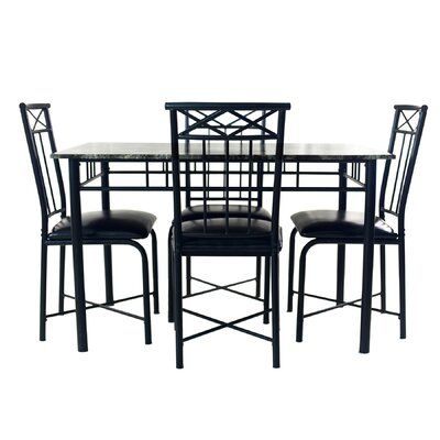 Fleur De Lis Living Reinert 5 Piece Dining Set In 2019 | Products With Reinert 5 Piece Dining Sets (View 2 of 25)