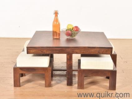 Folding Fibre Dining Table | Used Home – Office Furniture In Pune For Berrios 3 Piece Counter Height Dining Sets (Image 18 of 25)