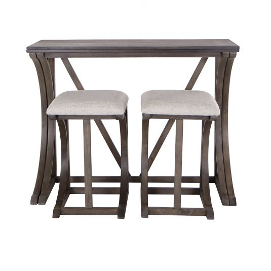 Formal & Casual Dining Room Furniture Sets | Jerome's For Falmer 3 Piece Solid Wood Dining Sets (Image 18 of 25)