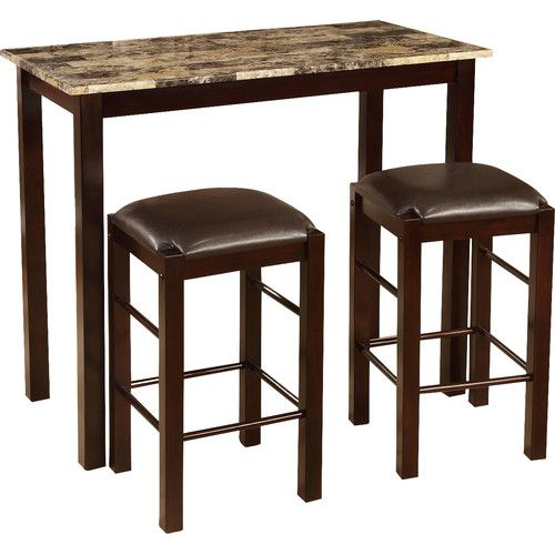 Found It At Wayfair – Brando 3 Piece Counter Height Dining Set For Bettencourt 3 Piece Counter Height Solid Wood Dining Sets (View 5 of 25)