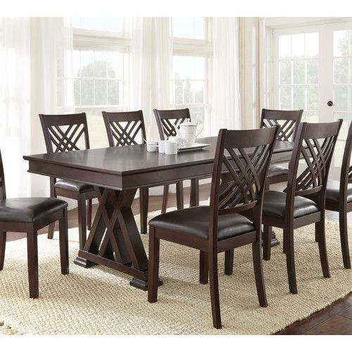 Found It At Wayfair – Mattos 9 Piece Dining Set | Home Decor Inside Laconia 7 Pieces Solid Wood Dining Sets (Set Of 7) (Image 8 of 25)