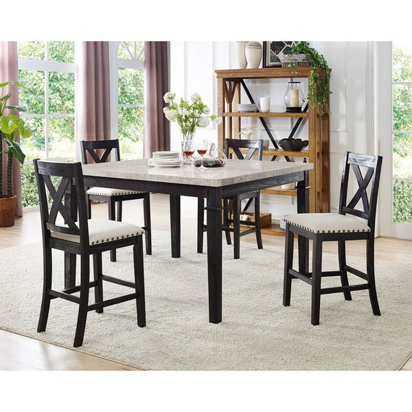Four Piece Dining Set – Summervilleaugusta Pertaining To Winsted 4 Piece Counter Height Dining Sets (View 25 of 25)