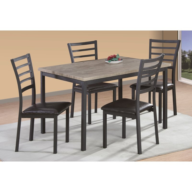 Frankie 5 Piece Dining Set Regarding Reinert 5 Piece Dining Sets (View 5 of 25)