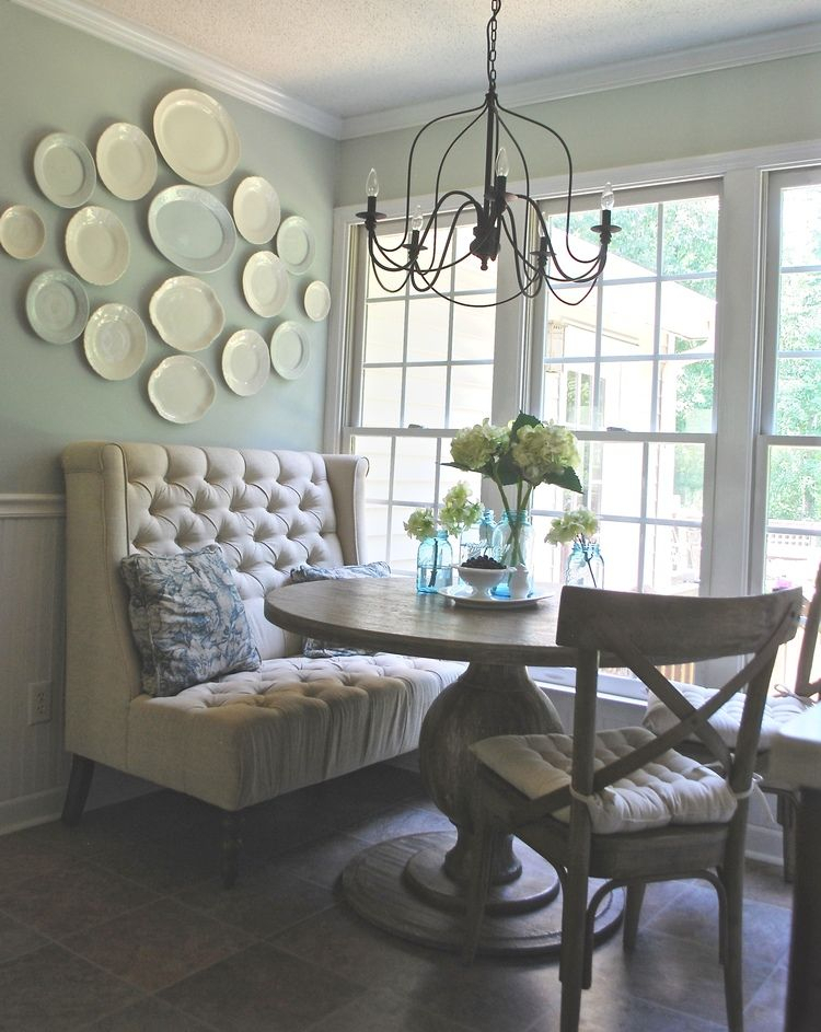 French Farmhouse Breakfast Nook Makeover | Kitchen | Breakfast Throughout Liles 5 Piece Breakfast Nook Dining Sets (Image 5 of 25)