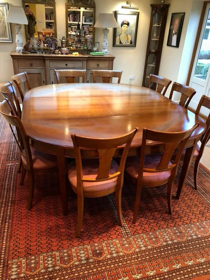 French Grange Rochambeau Dining Room Table And Chairs In Cherrywood | In Chelmsford, Essex | Gumtree Intended For Chelmsford 3 Piece Dining Sets (View 16 of 25)