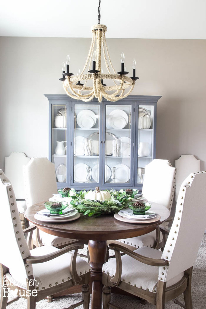 French Provincial China Cabinet Makeover With Regard To Emmeline 5 Piece Breakfast Nook Dining Sets (View 21 of 25)