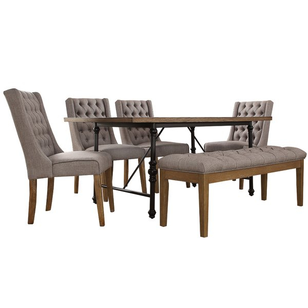 Fresh Alpert 6 Piece Dining Setwilliston Forge Wonderful Within Partin 3 Piece Dining Sets (Image 10 of 25)