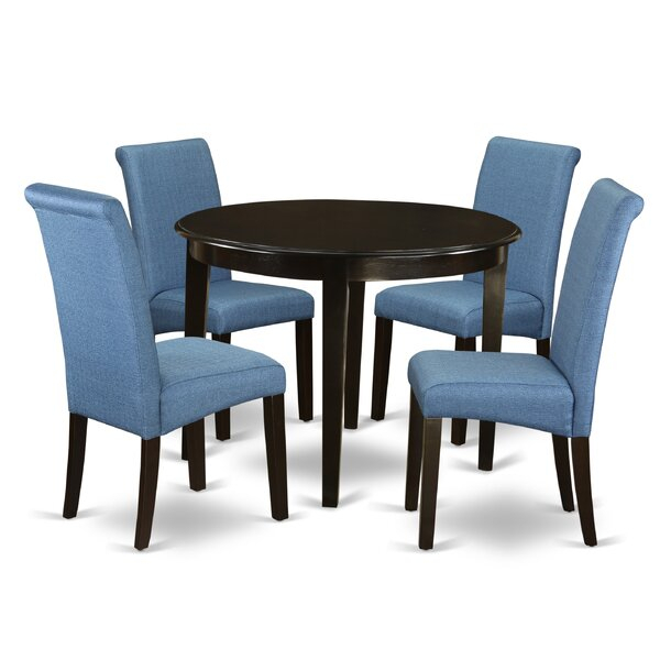 Fresh Chelvey 5 Piece Dining Setcharlton Home Spacial Price For Presson 3 Piece Counter Height Dining Sets (Image 7 of 25)