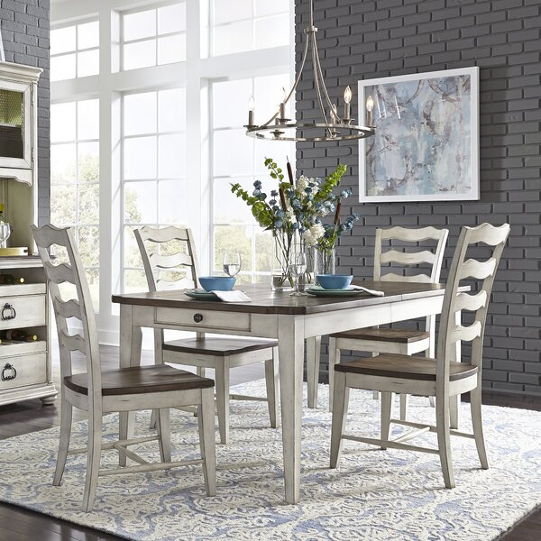 Fresh Gilbert 5 Piece Extendable Dining Setaugust Grove Discount For Miskell 5 Piece Dining Sets (View 9 of 25)