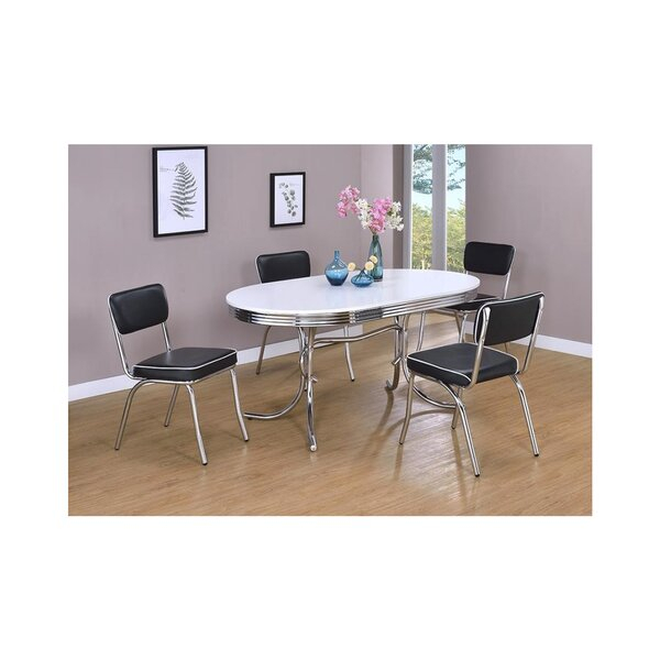 Fresh Reichert 5 Piece Solid Wood Dining Setcharlton Home With Isolde 3 Piece Dining Sets (View 25 of 25)
