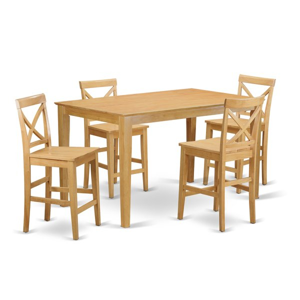 Fresh Smyrna 5 Piece Counter Height Dining Setcharlton Home 2019 For Hanska Wooden 5 Piece Counter Height Dining Table Sets (Set Of 5) (Image 7 of 25)