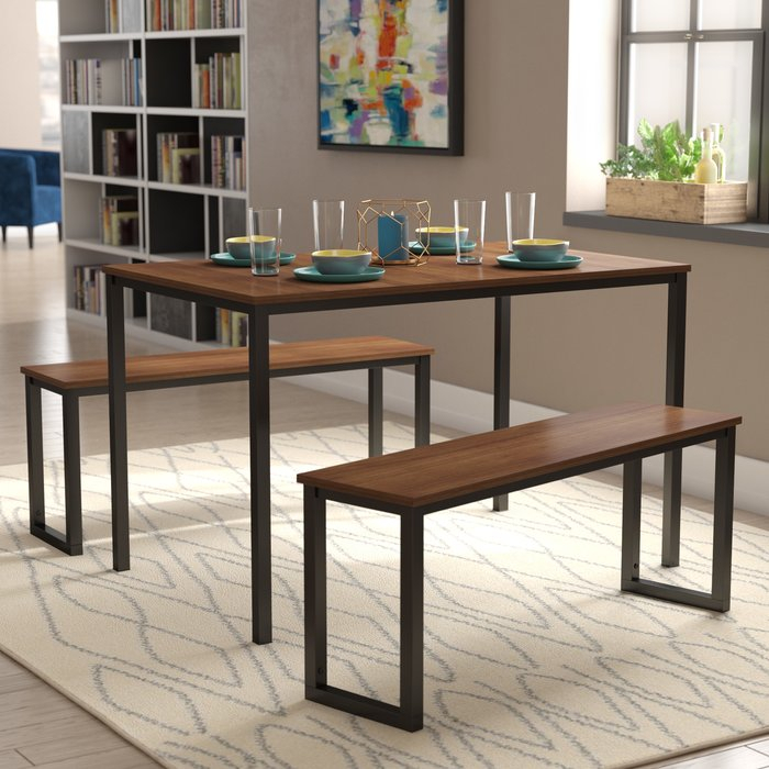 Frida 3 Piece Dining Table Set Regarding Frida 3 Piece Dining Table Sets (Image 9 of 25)