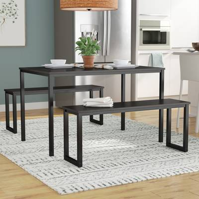 Frida Rectangular Dining Table In Frida 3 Piece Dining Table Sets (Image 13 of 25)