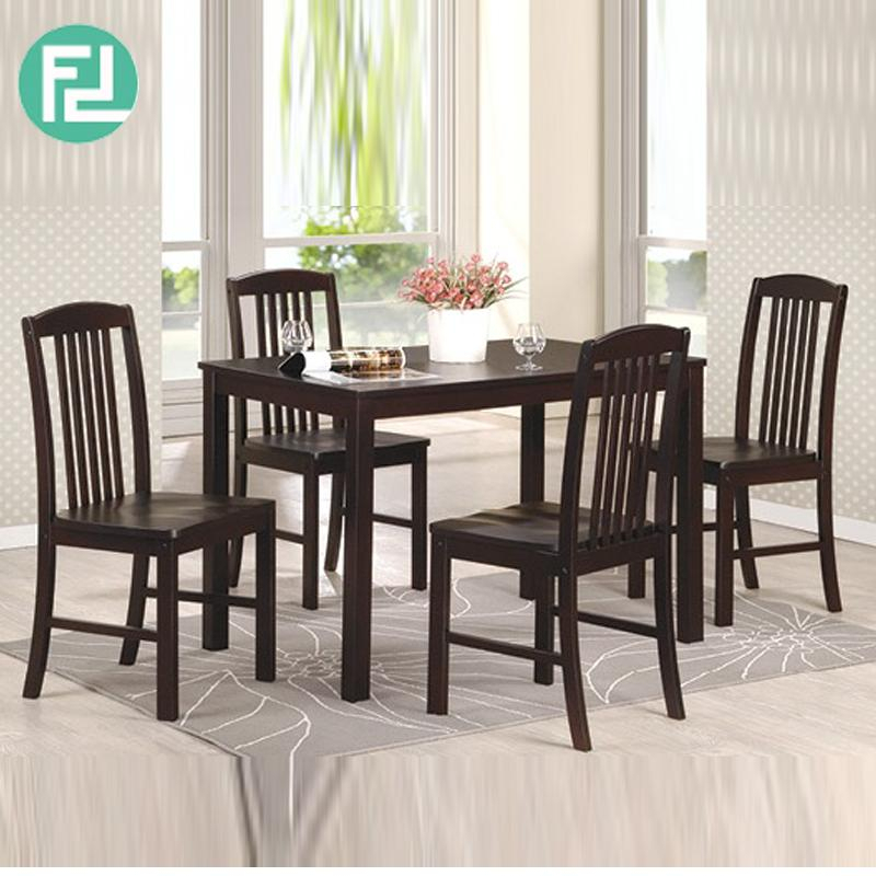 Furniture Direct Konya Solid Wood Dining Table 4 Seater Set Cappucino With Evellen 5 Piece Solid Wood Dining Sets (Set Of 5) (View 24 of 25)