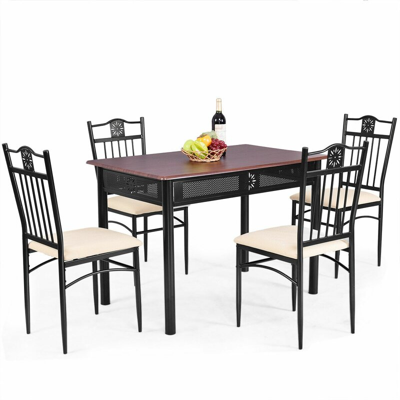 Ganya 5 Piece Dining Set in Ganya 5 Piece Dining Sets