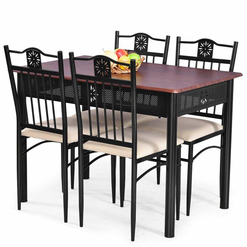 Ganya 5 Piece Dining Set regarding Ganya 5 Piece Dining Sets