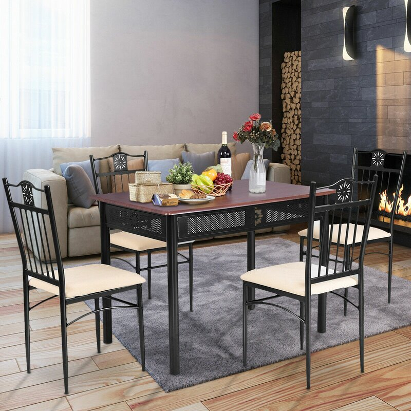 Ganya 5 Piece Dining Set Within Ganya 5 Piece Dining Sets (View 5 of 25)