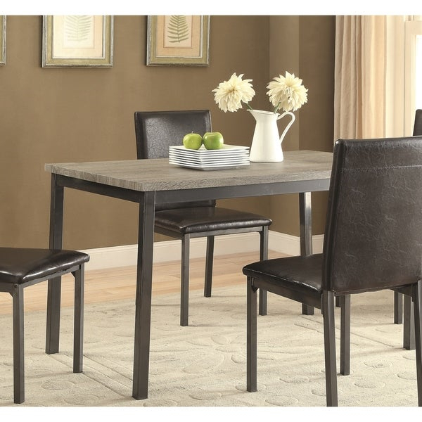 "Garza Black Dining Table - 30"" X 30"" X 48"" with Noyes 5 Piece Dining Sets"